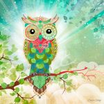 BBOw032 Green Owl