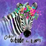 CSS070 Color Outside the Lines Zebra
